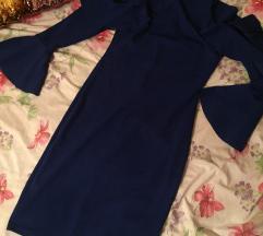 Off shoulder, royalty blue, haljina