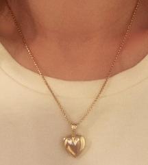 Zlatni privjesak srce 585