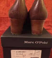 Marc O'Polo kožne, smeđe cipele na petu