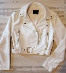 Novo, Kožna jakna, bijela, M, Bershka