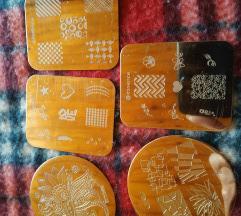 Pečat pločice za ukrašavanje noktiju