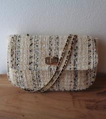 Krem torbica a la Chanel
