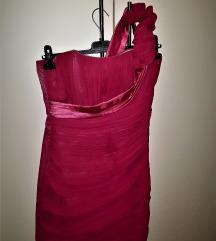 Roza svečana haljina
