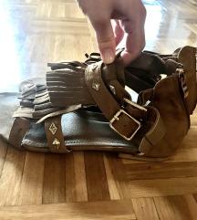 Brušena Koža Sandale Gladijatorice 40