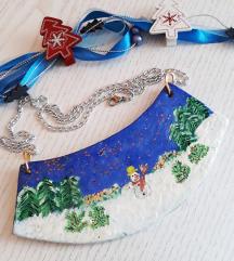 Božićna ogrlica-unikat