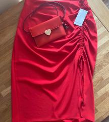 Zara crvena suknja XL - Nova s etiketom