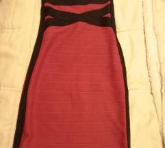 Crveno crna zimska haljina
