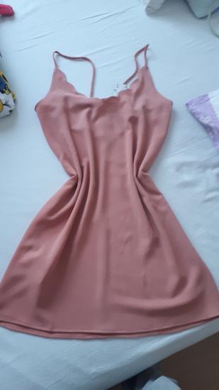 Mango puder roza haljina nova M