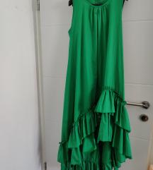 Zelena haljina asimetricna