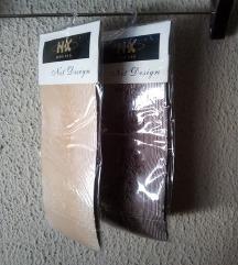 NOVE samostojece mrezaste carape(2 komada)