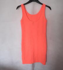 Nova neon narančasta uska haljina S iz H&M