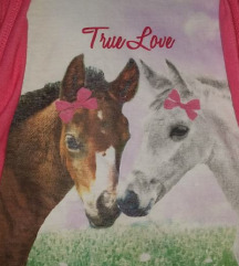 Majica s konjem za djevojčicu vel 128