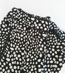 ZARA crno-bijele hlače M