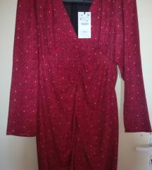 Zara haljina sa puf rukavima NOVO