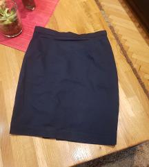 tamno plava suknja vel 36