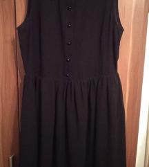 Crna haljina sa detaljima na kragni
