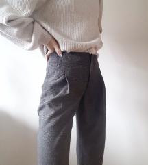 Vintage karirane hlače