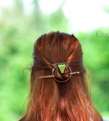 Fantasy kopča za kosu-žad
