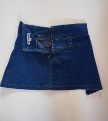 Mini suknja od plavog trapera br S - M -  UNITED