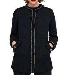 Novi Zara crni sako/kaput od tvida (M)