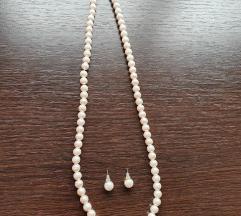 Set nakita: biserna ogrlica i naušnice