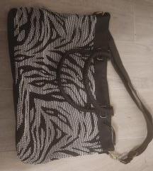 Nova  crno bijela torba Zebra