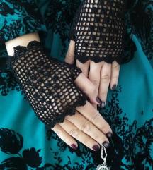 Čipkane crne rukavice
