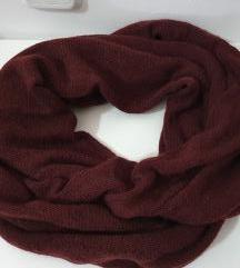 Terranova bordo crveni vuneni šal