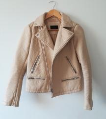 Zara krem kožna jakna