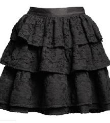 Lanvin for H&M crna čipkasta suknja
