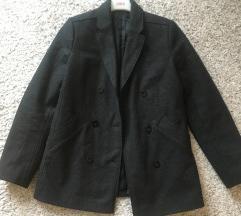 Sivi vuneni kraći kaput vel S-M