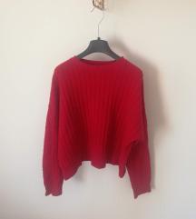 Crvena Bershka vesta/pulover