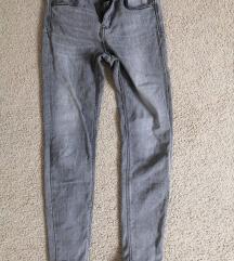 Sive Stradivarius skinny jeans visoki struk