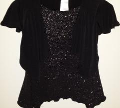 Svjetlucava crna majica 110 116