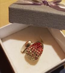 Srebrni prsten Swarovski