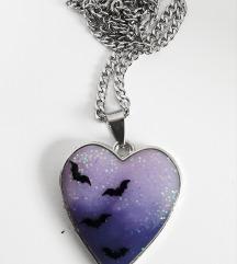 Gothic halloween srce ogrlica