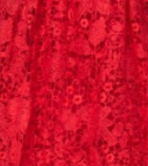 Crvena nova čipkasta haljina