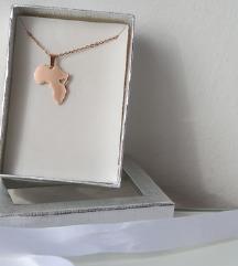 Nova ogrlica od čelika - Afrika, rose gold boja
