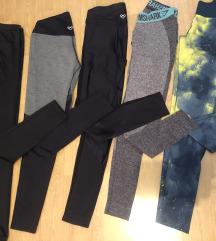 Lot tajice (Gymshark, Zoe, Adidas, Tezenis)