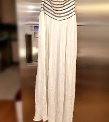 Haljina/duga suknja od gaze s crnim ornamentima