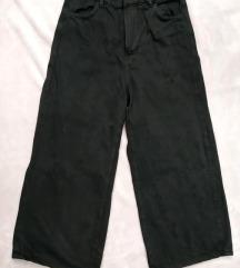 BERSHKA crop cullotes hlače, uklj. Tisak
