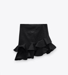 Zara NOVA suknja volani xs/s