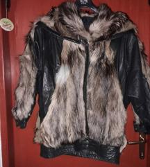 Kožna bunda s krznom