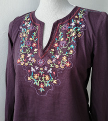 Naf Naf bluza s izvezenim šarenim ornamentima