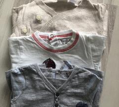 Vesta + dvije majice 50/56