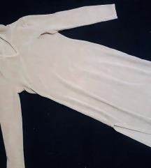 Plišana siva haljina s kapuljačom, S velicine