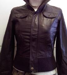 MANGO kožna jakna vel.34