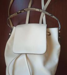 Kožni bijeli ruksak Innue