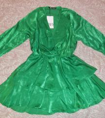 Zara satinirana haljina nova s etiketom