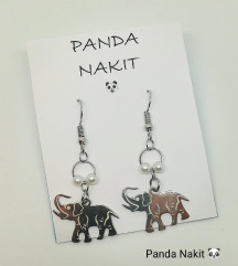 Unikatne naušnice sa slonićim